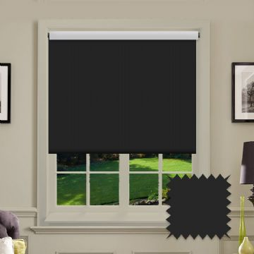 Blackout Roller Blind Bermuda Black